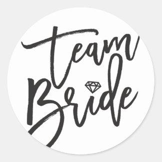 Team Bride Diamond Bridal Party Wedding Stickers