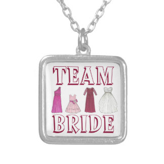 TEAM BRIDE Dress Wedding Party Bridesmaid Necklace