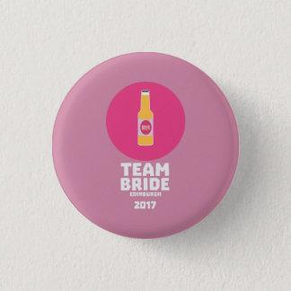 Team bride Edinburgh 2017 Henparty Z513r 1 Inch Round Button