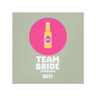 Team bride Edinburgh 2017 Henparty Z513r Canvas Print