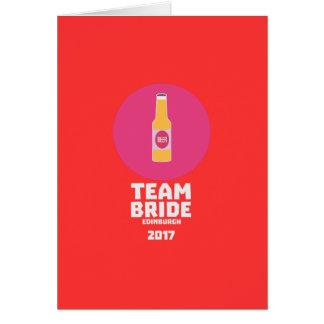 Team bride Edinburgh 2017 Henparty Z513r Card
