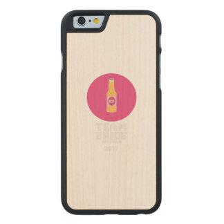 Team bride Edinburgh 2017 Henparty Z513r Carved Maple iPhone 6 Case