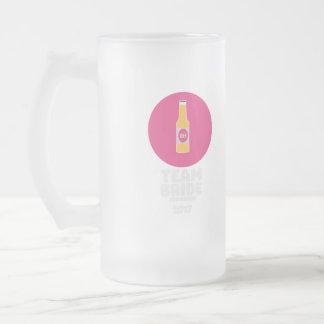Team bride Edinburgh 2017 Henparty Z513r Frosted Glass Beer Mug