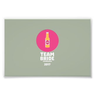 Team bride Edinburgh 2017 Henparty Z513r Photo Print