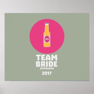 Team bride Edinburgh 2017 Henparty Z513r Poster