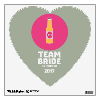 Team bride Edinburgh 2017 Henparty Z513r Wall Decal
