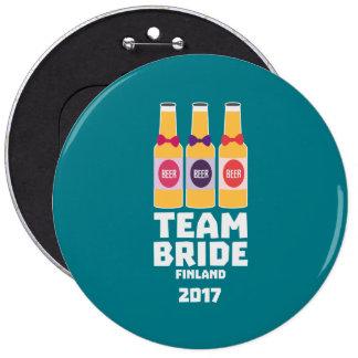 Team Bride Finland 2017 Zk36v 6 Inch Round Button