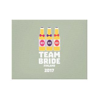 Team Bride Finland 2017 Zk36v Canvas Print