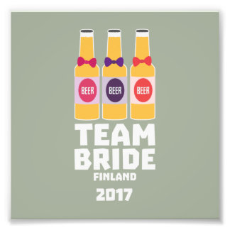 Team Bride Finland 2017 Zk36v Photo Print