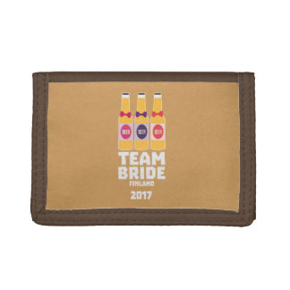 Team Bride Finland 2017 Zk36v Tri-fold Wallet