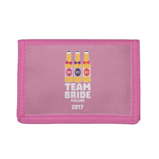 Team Bride Finland 2017 Zk36v Trifold Wallet