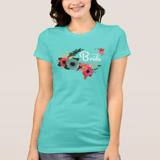 Team Bride. Floral Bachelorette Party T-Shirts
