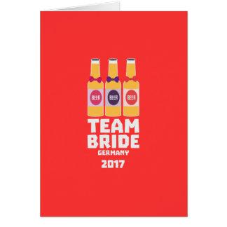 Team Bride Germany 2017 Z36e6 Card