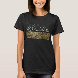 TEAM BRIDE GLAMOROUS GOLD BLACK MOSAIC DOTS T-Shirt