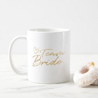 Team Bride - Gold faux foil mug