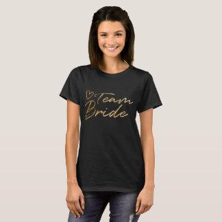 Team Bride - Gold faux foil t-shirt