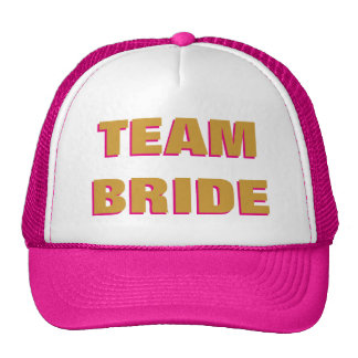 Team Bride Gold Hot Pink Trucker Hat