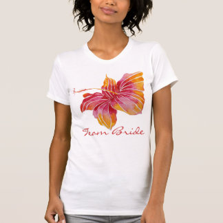 Team Bride | Hawaiian Hibiscus Flower T-Shirt