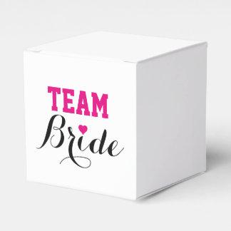 Team Bride Hot Pink Heart Favor Box S