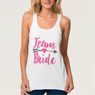 Team Bride|Hot Pink Tank Top