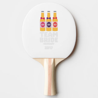 Team Bride Hungary 2017 Z70qk Ping Pong Paddle