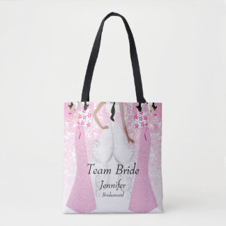 Team Bride in Pink Tote Bag