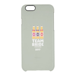 Team Bride Indonesia 2017 Z2j8u Clear iPhone 6/6S Case
