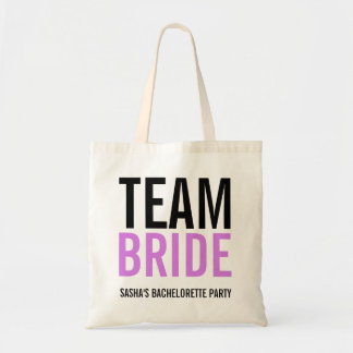 Team Bride Lilac Bachelorette Party Tote Bag
