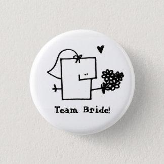 Team Bride Meepple Button Pin