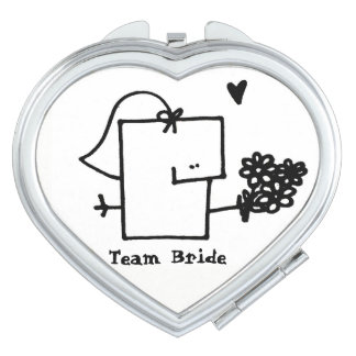 Team Bride Meepple Compact Mirror