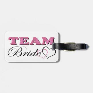 Team Bride - Pale Pink Luggage Tag