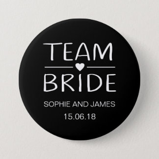 Team Bride Personalised 3 Inch Round Button