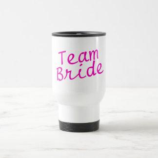 Team Bride Pink 15 Oz Stainless Steel Travel Mug