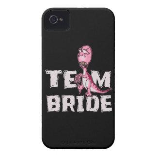 Team Bride Pink Dinosaur Bridal Shower iPhone 4 Cover