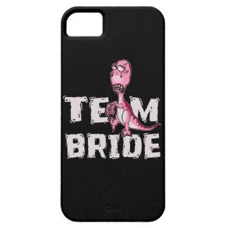 Team Bride Pink Dinosaur Bridal Shower iPhone 5 Covers