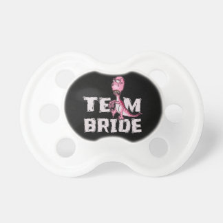 Team Bride Pink Dinosaur Bridal Shower Pacifier
