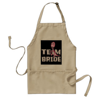 Team Bride Pink Dinosaur Bridal Shower Standard Apron
