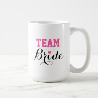 Team Bride Pink Heart Coffee Jumbo Mug