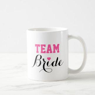 Team Bride Pink Heart Coffee Mug