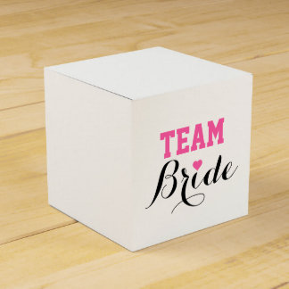 Team Bride Pink Heart Favor Box S