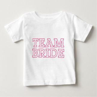 Team Bride Pink Outline Baby T-Shirt
