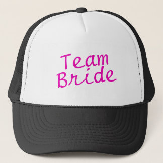 Team Bride Pink Trucker Hat