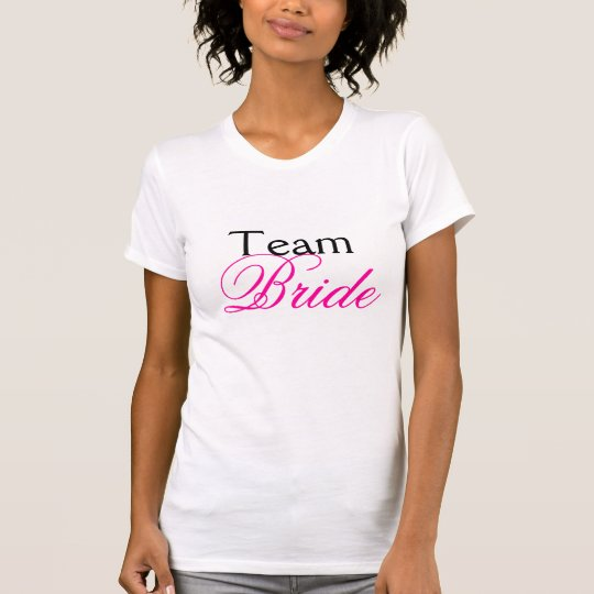 Team Bride Pink Wedding Bachelorette TankTop White
