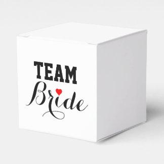 Team Bride Red Heart Favor Box S