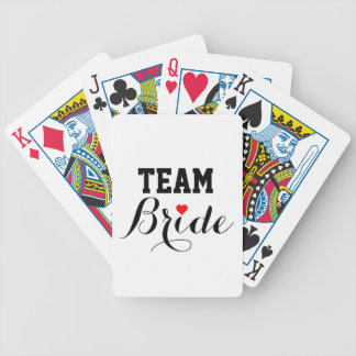 Team Bride Red Heart Playing Cards