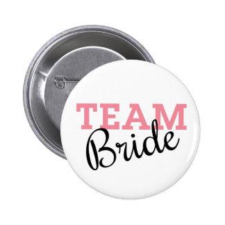 Team Bride Script 2 Inch Round Button