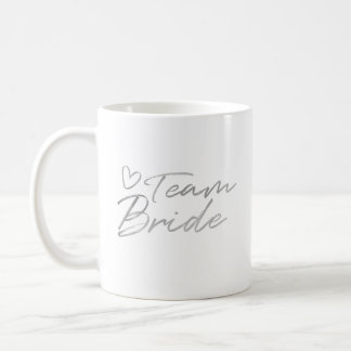 Team Bride - Silver faux foil mug