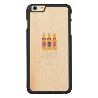 Team Bride Singapore 2017 Z4gkk Carved Maple iPhone 6 Plus Case