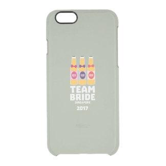 Team Bride Singapore 2017 Z4gkk Clear iPhone 6/6S Case