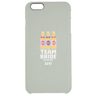 Team Bride Singapore 2017 Z4gkk Clear iPhone 6 Plus Case